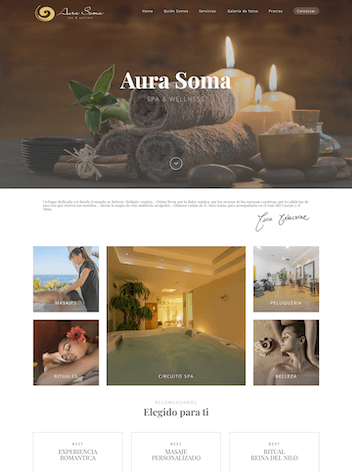 Diseño Web para centro SPA y belleza
