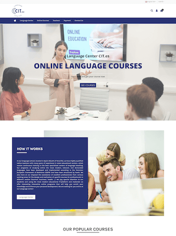 Diseño Web para Cursos online